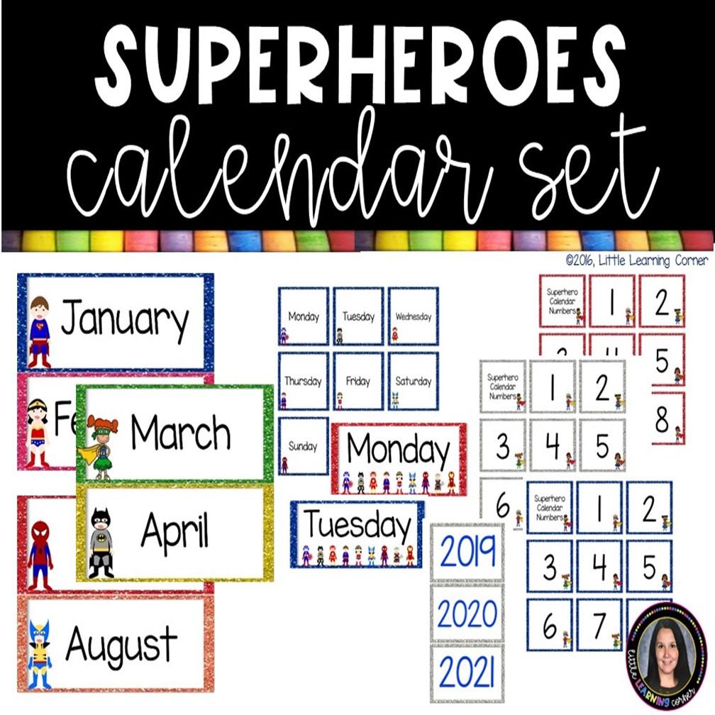 kindergarten-classroom-superhero-calendar-cover