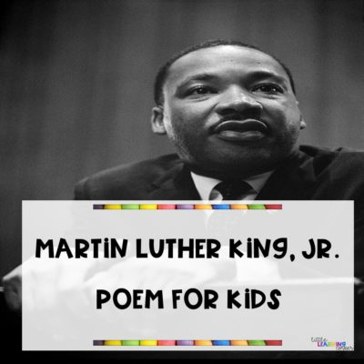 Martin Luther King Poems for Kids