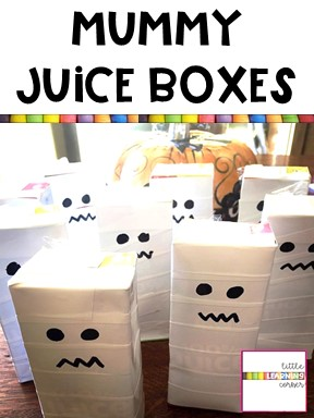 Mummy Juice Boxes for Halloween Parties