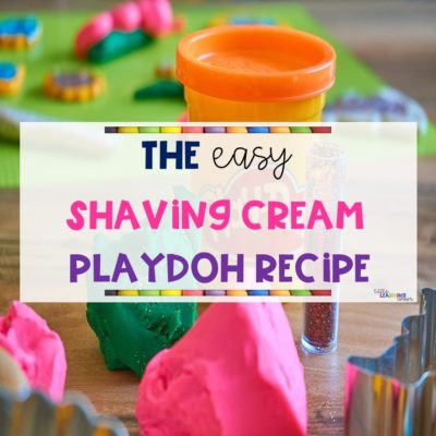 The Easy Shaving Cream Playdoh Recipe