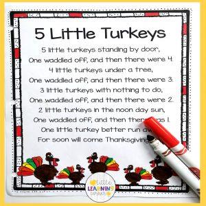 thanksgiving-poems-for-kids-5-little-turkeys