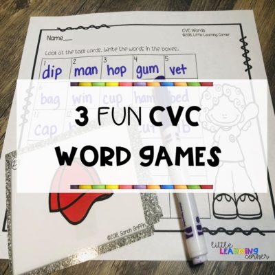 3 Fun CVC Word Games