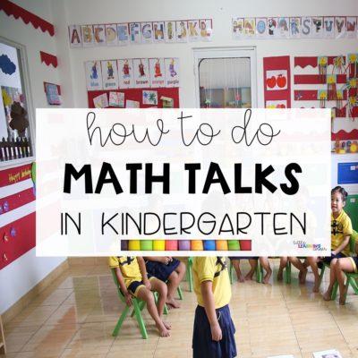 How To Do Math Talks in Kindergarten (VIDEO)