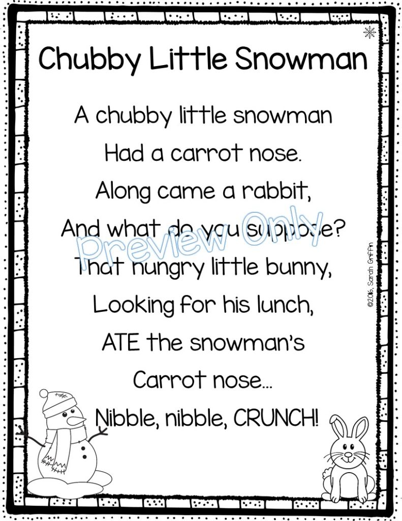 chubby-little-snowman-poem-for-kids