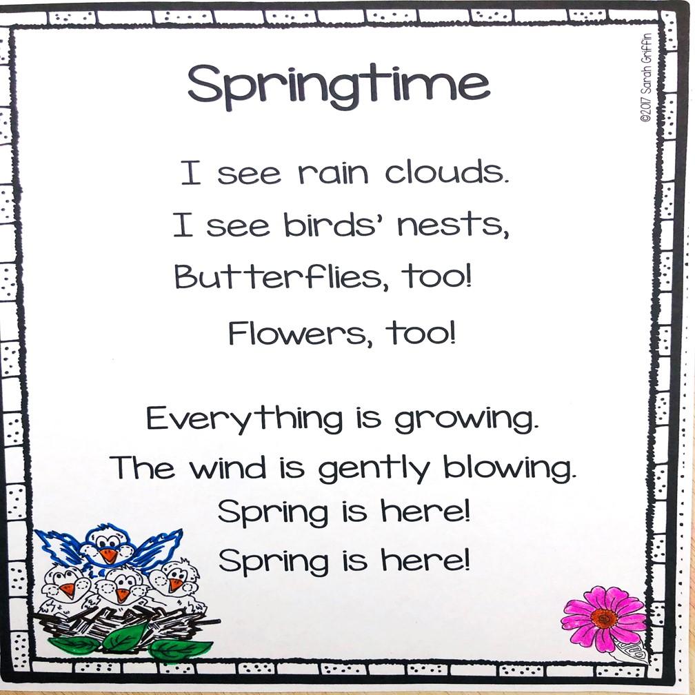 5 Spring Poems for Kids | Little Learning Corner