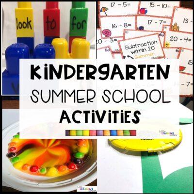 Kindergarten Summer School Activities