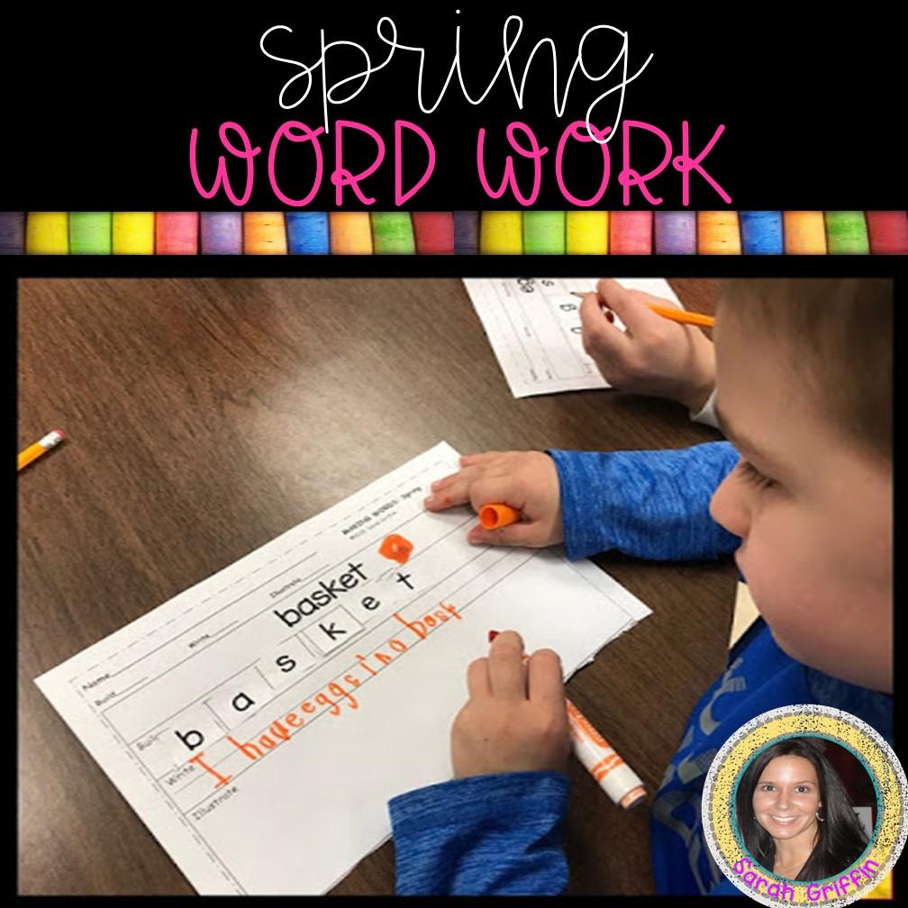 kindergarten-spring-writing-center