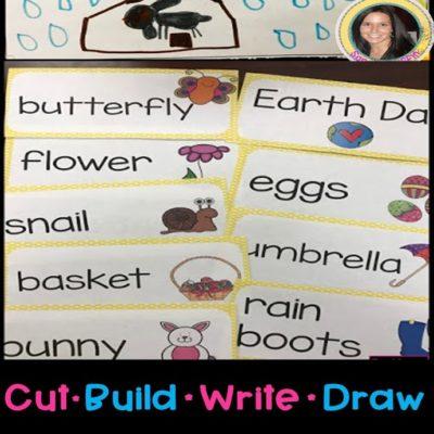 Kindergarten Spring Writing Center