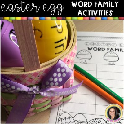 Easter Egg Activities | CVC Word Families