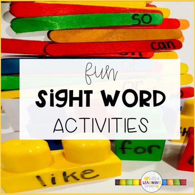 10 Fun Activities for High Frequency Words (Free Printable)