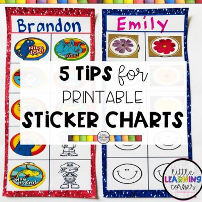 5 Tips for Printable Sticker Charts