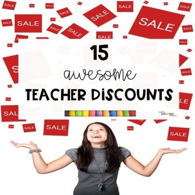 15 Awesome Teacher Discounts