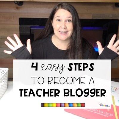 4 Easy Steps to Become a Teacher Blogger