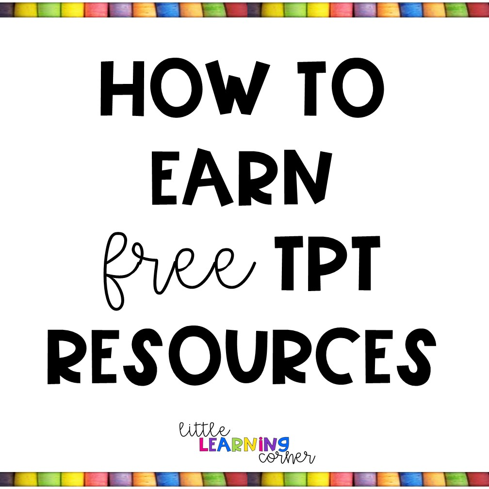 - How To Get Free Teachers Pay Teachers Resources Little Learning