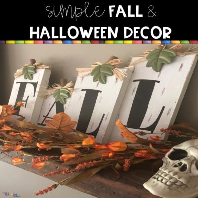 Simple Fall and Halloween Decor