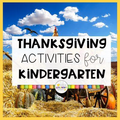 Fun Thanksgiving Kindergarten Worksheets (Printable Activities)