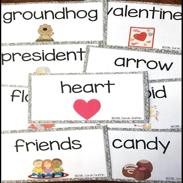 making-words-february-writing-center-cards