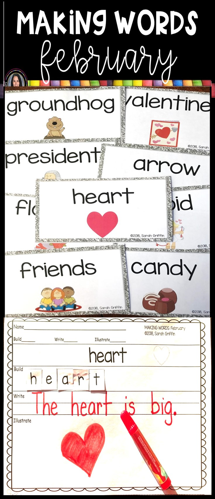 making-words-february-writing-center-pin