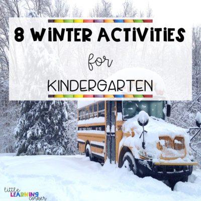 8 Winter Activities for Kindergarten
