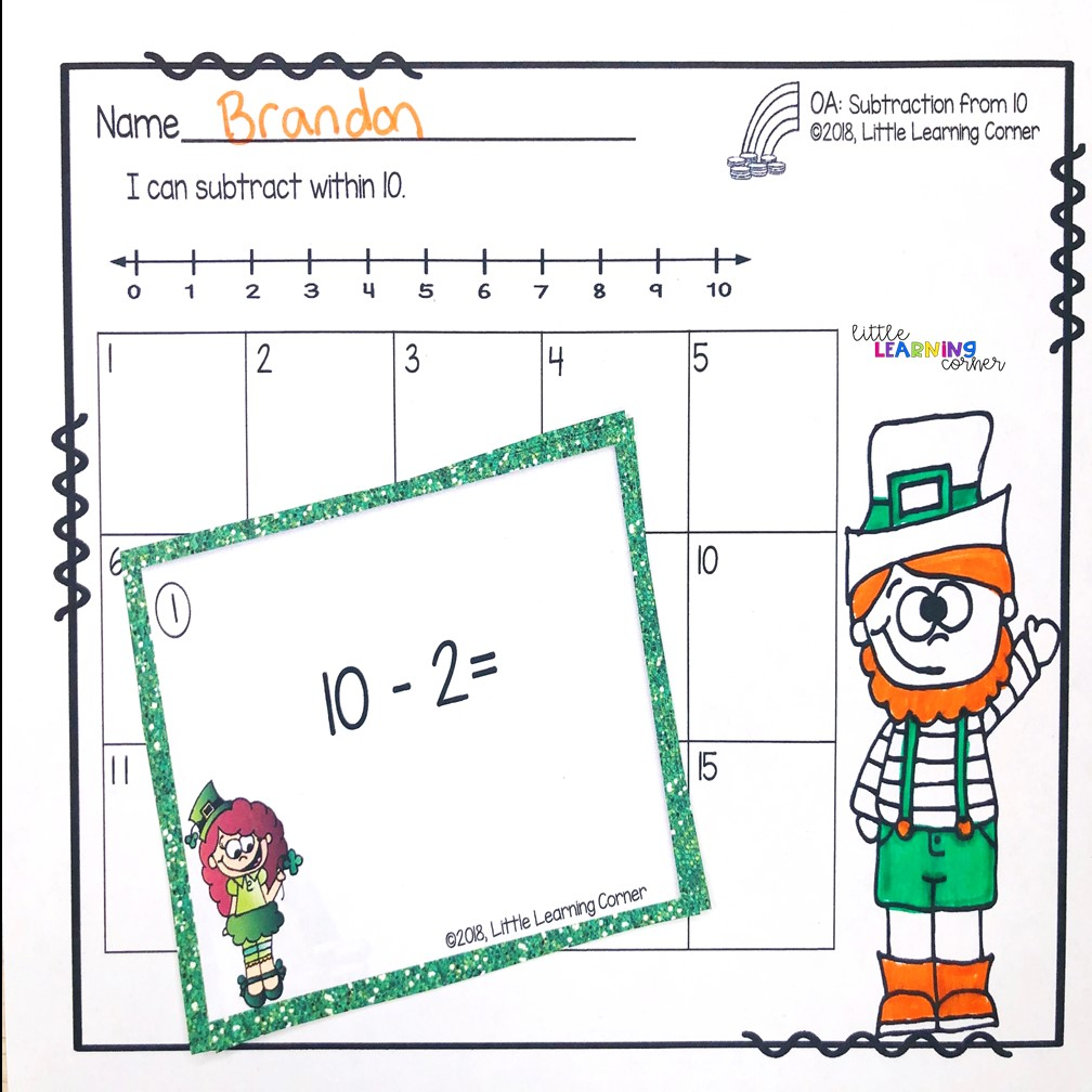st-patricks-day-activities-subtraction