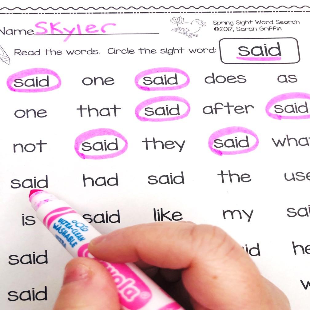 spring-activities-for-kindergarten-sight-words
