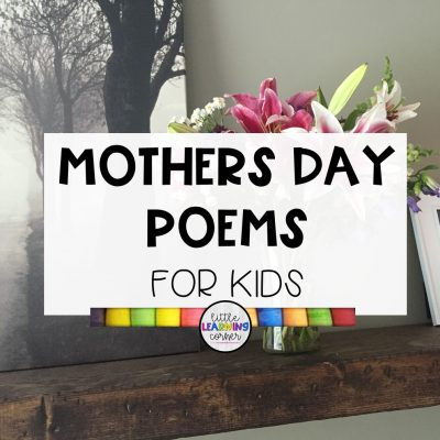 5 Adorable Mothers Day Poems for Kids