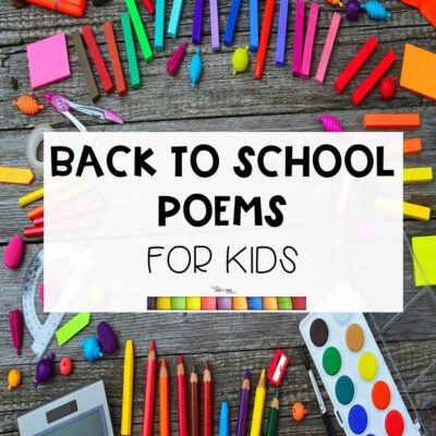 5 Fun Back To School Poems