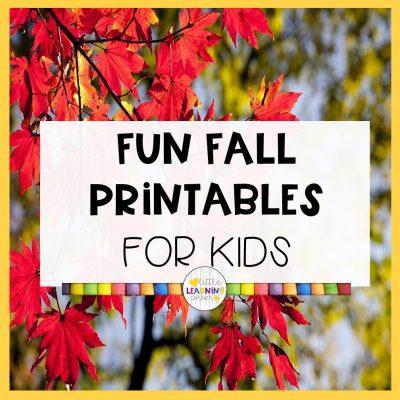 27 Fun Fall Printables for Kids
