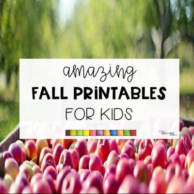 20 Fun Fall Printables for Kids
