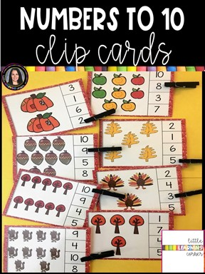 numbers-to-10-clip-cards-fall-math-center-pin