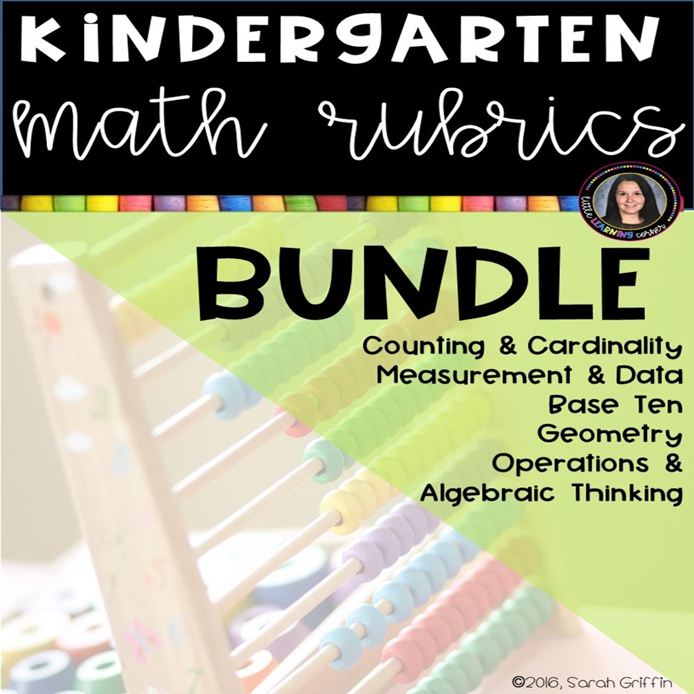 kindergarten-math-rubric-bundle-cover