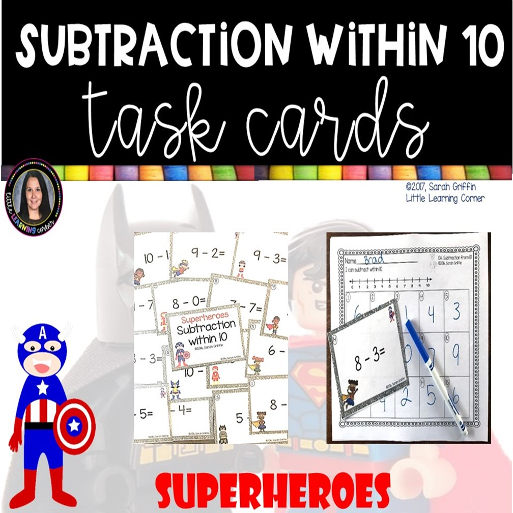 subtraction-from-10-task-cards-superhero-cover