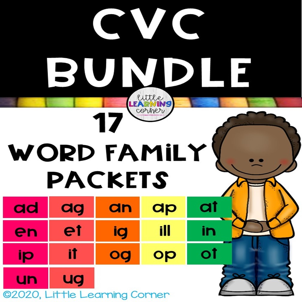 word families cvc bundle