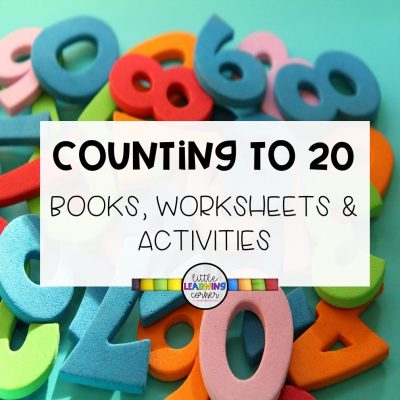 The Best Counting to 20 Songs, Books, and Worksheets