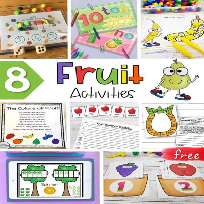 Free Fruit Worksheets, Poems, and Activities