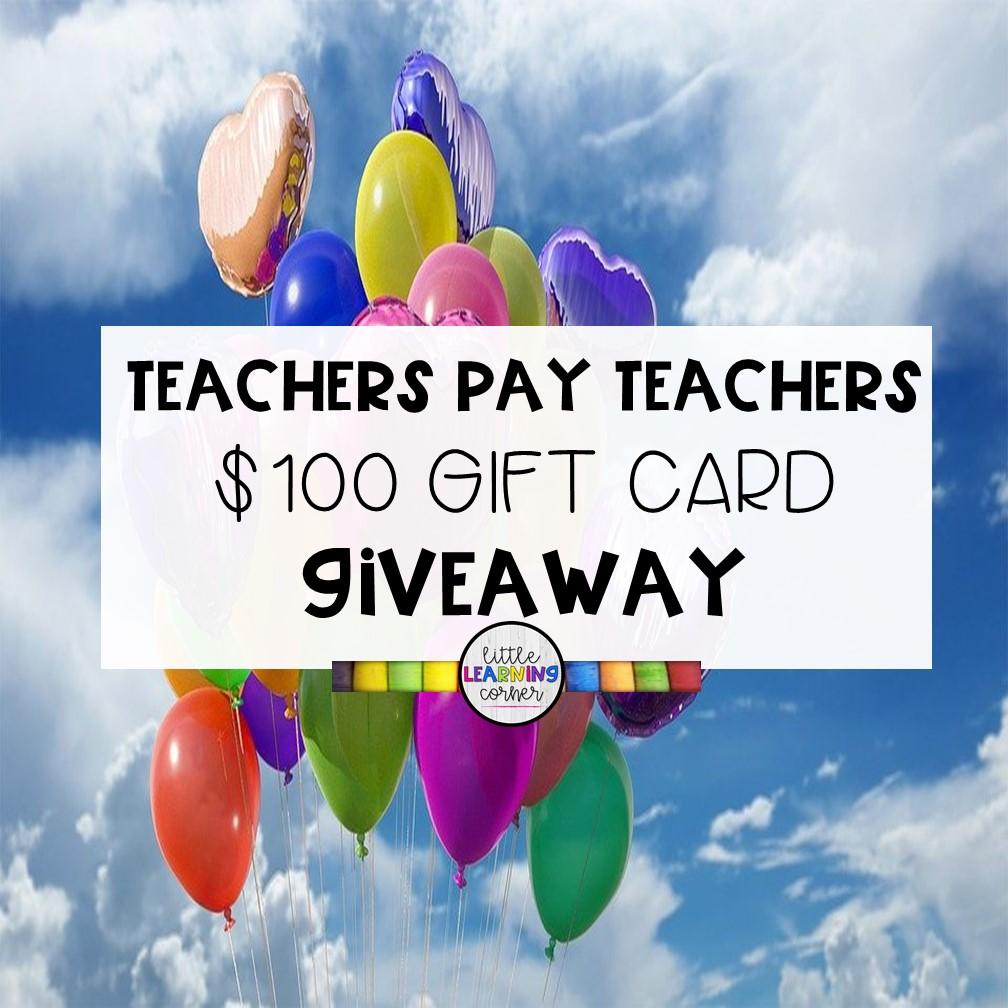 A $100 Teachers Pay Teachers Gift Card Giveaway