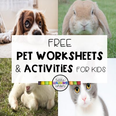 4 Free Pet Worksheets and Activities for Kids