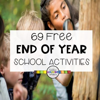 69 Free End of Year School Activities for Summer