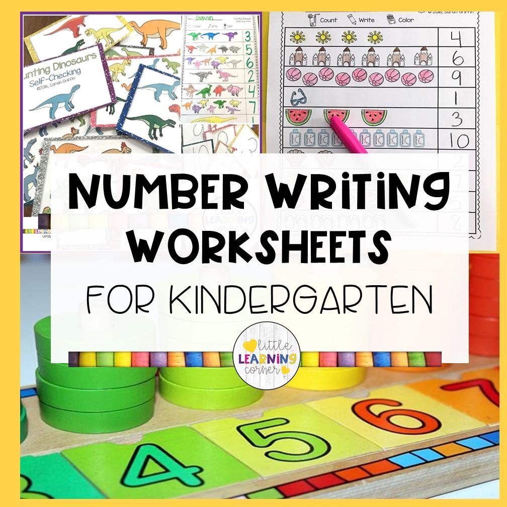 20 Writing Numbers Worksheets for Kindergarten