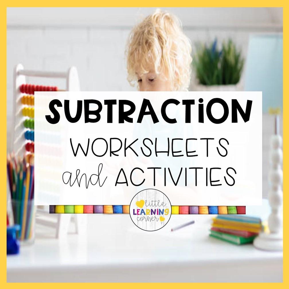 36 Fun Subtraction Worksheets for Kindergarten (K-2)