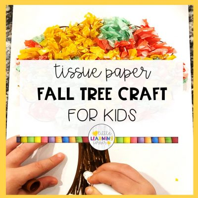 Tissue Paper Fall Tree Craft for Kids