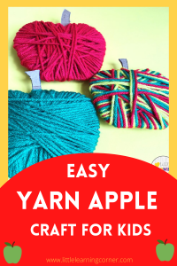 yarn-apple-craft-for-kids