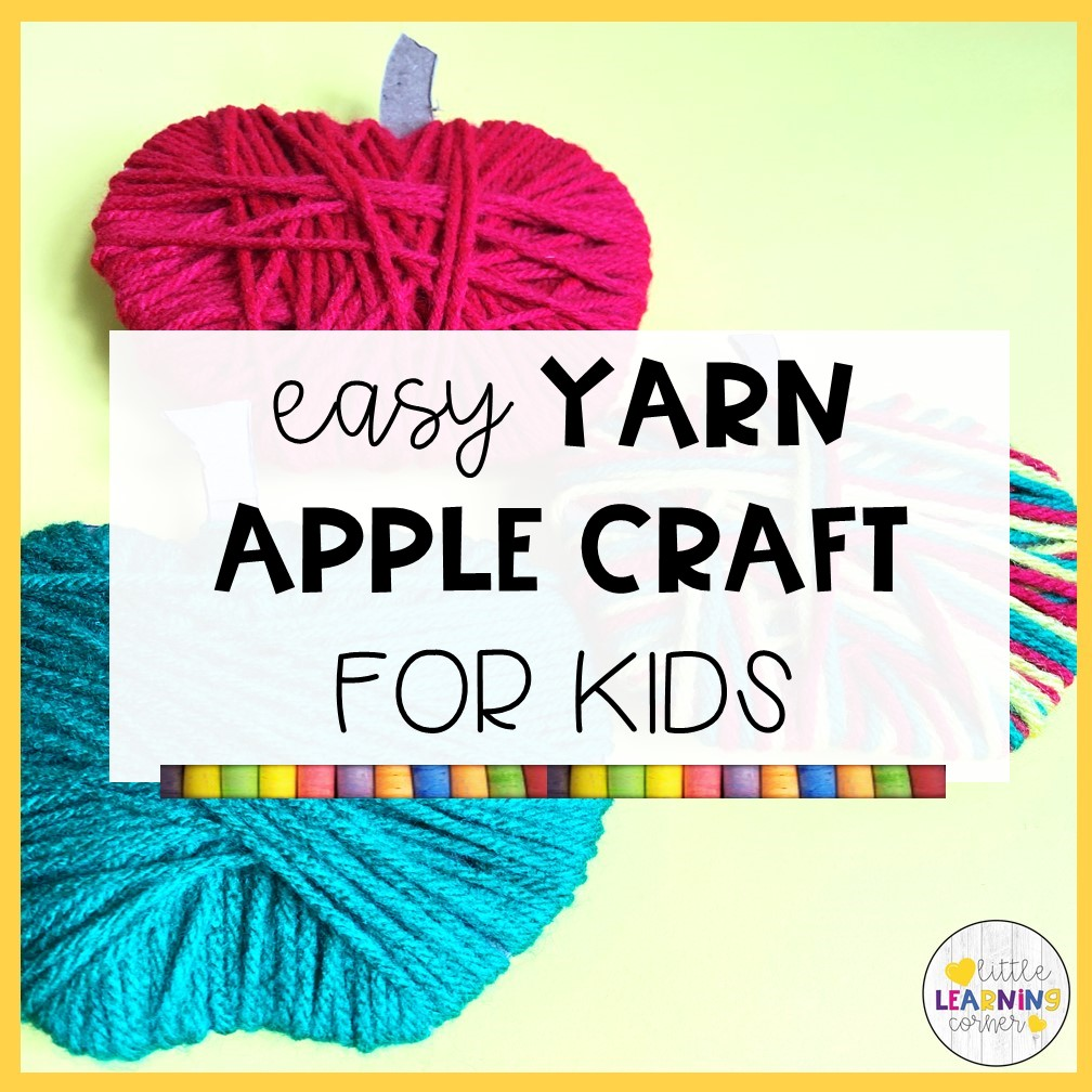 An Easy Yarn Apple Craft for Kids