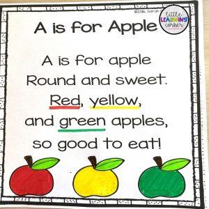 apple poem for kids
