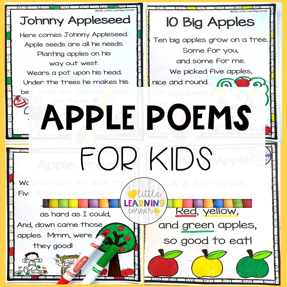 5 Apple Poems for Kids (Songs and Rhymes)