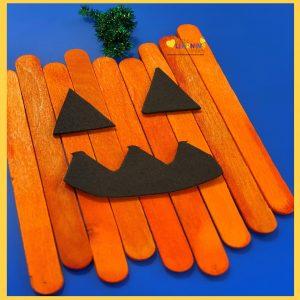 easy pumpkin crafts for kids popsicle sticks