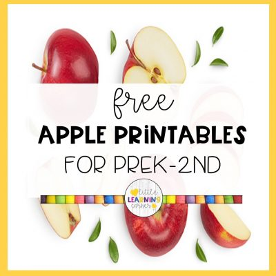 Free Apple Printables, Worksheets, and Activities