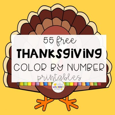 55 Free Color By Number Thanksgiving Printables