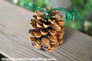 pine cone pumpkin craft for kids